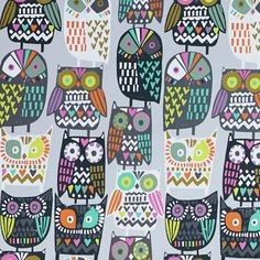 print & pattern: AW15 PREVIEW - paperchase : owl crowd