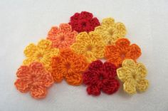 Crochet Fall Flowers  Small Forget Me Nots by FineThreads on Etsy, $3.00