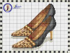 Leopard shoe x-stitch