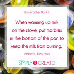 Great baking tips via the social community of Simply Create!