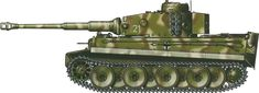Tiger H/E camouflage patterns - Italy February 1944 II sPzAbt508