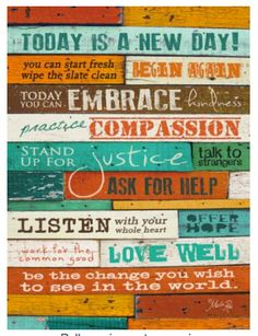 Today is a new day inspirational wall art - makes a great girlfriend gift, birthday gift, 'I believe in You' gift ... awesome gift for women!