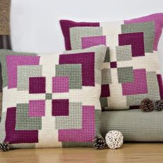 Cross Stitch Charts 'Symmetry' Cross Stitch Cushion Kit by Twilleys of Stamford. Counted Cross Stitch Kits, Cross Stitch Charts, Cross Stitch Designs, Cross Stitch Patterns, Hand Embroidery Videos, Embroidery Techniques, Embroidery Patterns, Cross Stitching, Cross Stitch Embroidery