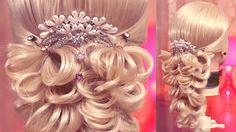 Свадебная причёска на резинках (Восьмёрка)