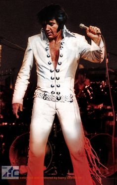 """The """"Concha"""" suit was one of Elvis' most famous. Concha is the Mexican word for metal ring - for the metal rings on the suit."""