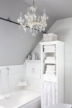 White and Shabby: GREY IN THE BATHROOM
