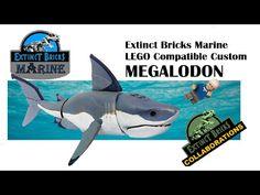#LEGO #LEGO #Megalodon #sharkweek #marine LEGO Compatible Custom MEGALODON - YouTube Lego Dinosaur, Lego Jurassic World, Artwork For Home, Cool Lego Creations, Lego House, Custom Lego, Lego Stuff, Shark Week, Drum
