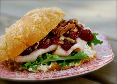 Next Day Turkey cranberry croissant sandwich Hoagie Sandwiches, Turkey Sandwiches, Wrap Sandwiches, Croissant Sandwich, Soup And Sandwich, Sandwich Recipes, Tacos And Burritos, Dinner Options, Good Enough To Eat