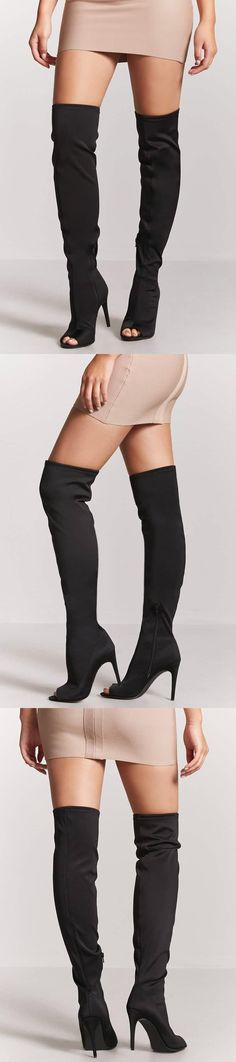 Over-the-Knee Open-Toe Boots // 37.90 USD // Forever 21