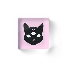 Black Third Eye Kitty Cat ★☽ Trendy/Hipster/Tumblr Meme by Bratsy ♡