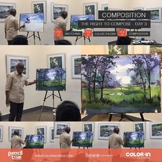 Strengthen your composition IQ Under the guidance of master #SadhuAliyur This time @Chennai City on this weekend What are waiting for? Reserve your seats now! Call 7676006006 #huesofwatercolor