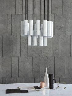 Modern Salvatori Silo Chandelier in Bianco Carrara Marble by David Lopez Quincoces For Sale
