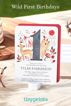 The first birthday is one to remember! Invite all the guests with stylish birthday invitations. Personalize with a cute animal theme or photo of your little one. 1st Birthday Invitations, Birthday Bash, First Birthday Parties, First Birthdays, Invitation Design, Invite, Tiny Prints, Personalized Stationery, Wild Ones