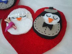 wedding felt ornament