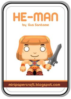 Mini Papercraft: He-Man papercraft - Master of the universe anniver...