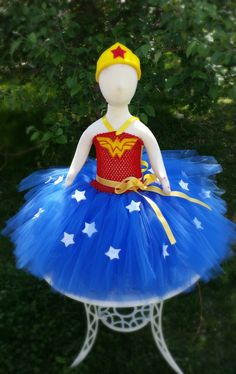 WONDER WOMAN Super Hero Tutu Dress- Infant, Toddler and Child Sizes Available by TheOrangeOrchid on Etsy https://www.etsy.com/listing/223191962/wonder-woman-super-hero-tutu-dress