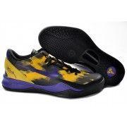 Nike Zoom Kobe VIII Mens Basketball Shoes Black Purple Yellow $89.90 http://www.blackgoto.com/nike+zoom/
