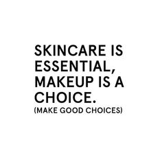 When you invest in great skin, not only will you feel better all day long having the confidence to go make-up free, your make-up will look even better when you do want to jazz up your look. Skincare is essential, make good choices!