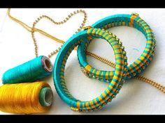 DIY: How to turn your old bangles into bridal chuda I Silk thread Bangles I Creative Diaries - YouTube