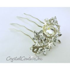 Crystal Couture | Crystal & Pearl Rhinestone 3.0 inch Comb - Hair Accessories