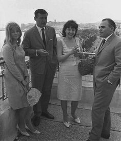 Anna Széles, Victor Rebengiuc, Gina Patrichi și Liviu Ciulei, Cannes,1965 Socialist State, Warsaw Pact, Central And Eastern Europe, Soviet Union, My Memory, Cannes, Actors & Actresses, Memories, Couple Photos