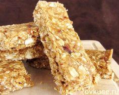 Овсяные батончики с орехами и фруктами — полезное и вкусное печенье без выпечки