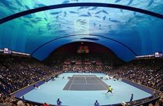 The new project - underwater tennis court in Dubai