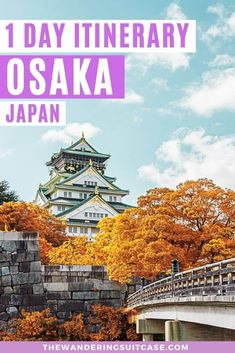 How to spend 1 day in Osaka, things to do, where to go and how to get around | everything you need to know about visiting Osaka Japan