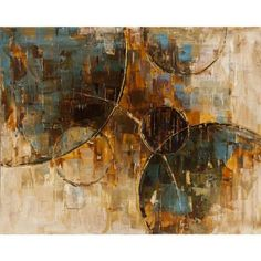 Yosemite Home Decor 31.5 in. x 39.5 in. Floating Away II Hand Painted Contemporary Artwork-YG130228B at The Home Depot