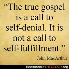 Dr. John MacArthur quote  IS SO TRUE.   As born again Christians, we are NOT promised health, wealth or fame.   Jesus said to leave all and GO  TELL.   Nothing here is of any value, only what is done for Christ will last.