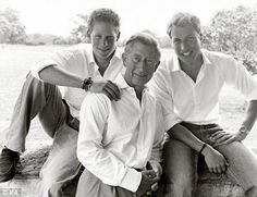 Prince Charles, Prince William and Prince Henry