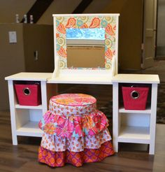 Free woodworking plans from Ana White, a self-taught designer and builder dedicated to helping people create their own furniture. Find the best DIY furniture plans here! Little Girl Vanity, Little Girl Rooms, Ana White, Furniture Plans, Kids Furniture, Outdoor Furniture, Furniture Stores, Cheap Furniture, Woodworking Projects