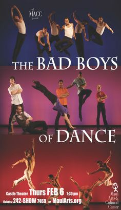 Kahului, HI Bad Boys of Dance push the boundaries to deliver the most exciting dance shows in the world! Founded by dance superstar Rasta Thomas in 2007, BBD debuted to rave reviews and sold out crowds at the… Click flyer for more >>