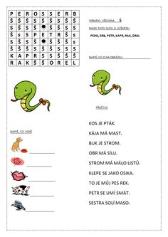 PÍSMENO S.docx Word Search, Words, Horse