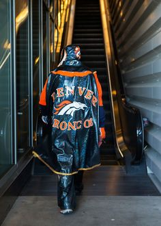 Denver Broncos fan Hector Gomez, of El Paso, Texas, dressed as Rey Misterio to watch Super Bowl 50 at Levi's Stadium in Santa Clara, Calif., on Sunday, Feb. 7, 2016. (LiPo Ching/Bay Area News Group)