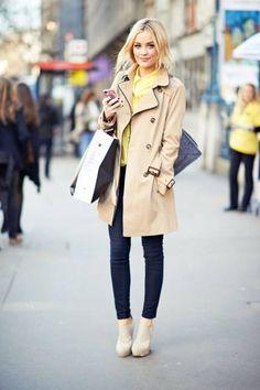 LAURA WHITMORE  Coat: Warehouse   Jeans: J Brand   Shoes: Aldo