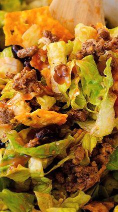 Taco Salad http://life-in-the-lofthouse.com/doritos-taco-salad/