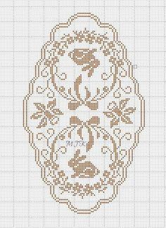 Gallery.ru / Фото #144 - 2014 αβ - ergoxeiro Filet Crochet, Crochet Chart, Crochet Stitches, Cross Stitching, Cross Stitch Embroidery, Embroidery Patterns, Crochet Tablecloth, Crochet Doilies, Cross Stitch Charts