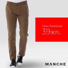 Şıklığınıza şıklık katacak Manche Chino Pantolonlar sadece 39,99 TL! 👉 http://www.manche.com.tr/koleksiyon/pantolon
