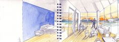 water colour sketch - Steven Holl Architect