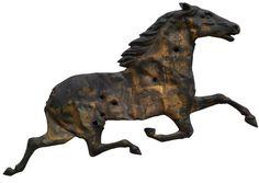... Shot-up vintage horse weathervane.