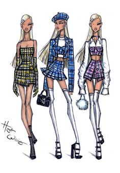 Hayden Williams x Missguided blue plaid bralet top with underwired bust cups and silver look chain straps. Check out the matching co-ord, search style code - Vintage Fashion Sketches, Vintage Vogue Fashion, Fashion Design Sketchbook, Fashion Design Drawings, Dior Fashion, Fashion Face, Blazer Fashion, Art Sketchbook, Fashion Wear