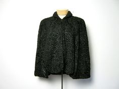 vintage 1950s cape coat / persian lamb by dirtybirdiesvintage, $45.00