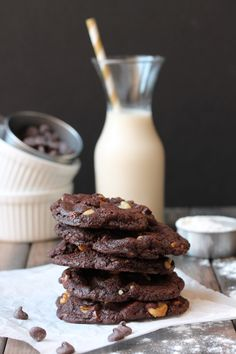 Walnut Brownie Cookies (Vegan)