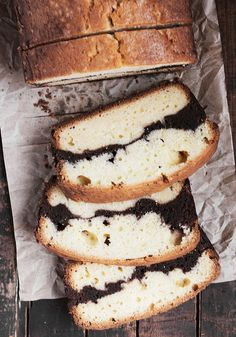 Vanilla Brownie Pound Cake Loaf via @SeasonsSuppers