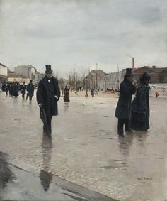 Jean-Georges Béraud (1849-1935)* was an Russian*-born French* Impressionist painter*, known for his typical Parisian life scene during La Belle Époque period. Jean Béraud* was born in St. Petersburg to French parents and died in Paris. For biographical notes -in english and italian- and other works by Béraud see Jean Béraud | La Belle Époque painter*.