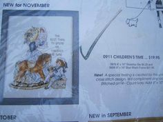 See Sally Sew-Patterns For Less - Children's Time Creative Circle Cross Stitch Needlework Kit