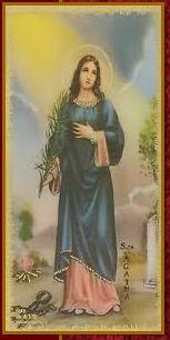 Saint Agatha let us pray together. Patron saint of nurses.