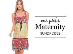 {Project Nursery Picks: Maternity Sundresses} #maternity #style