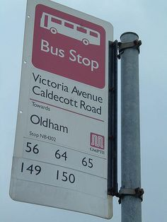 Bus stop, Victoria Avenue, Higher Blackley, Manchester
